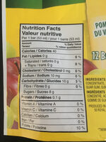 Fruitsations - Informations nutritionnelles