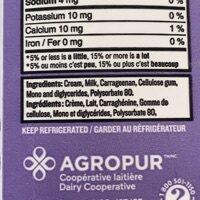 35% Whipping Cream - Ingrédients - en