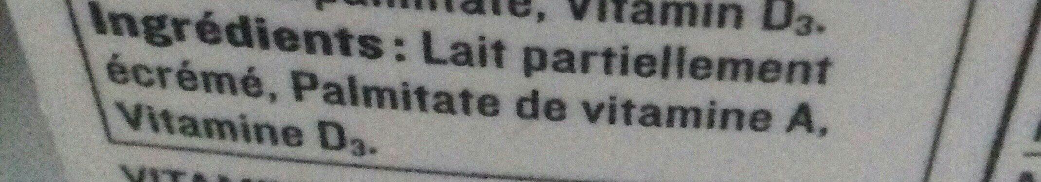 Lait (1 % m.g.) - Ingrédients - fr