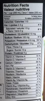 Lait (1 % m.g.) - Informations nutritionnelles - fr