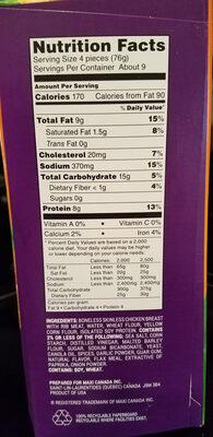 Dino buddies chicken breast nuggets - Ingredients - en