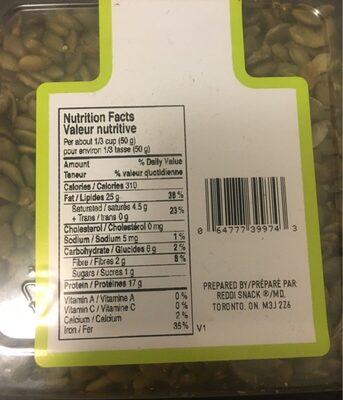 Graines de citrouille - Nutrition facts - en