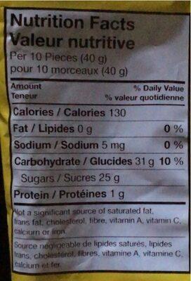Gummies - Informations nutritionnelles - en