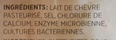 fromage cheddar de chèvre - Ingrédients - fr