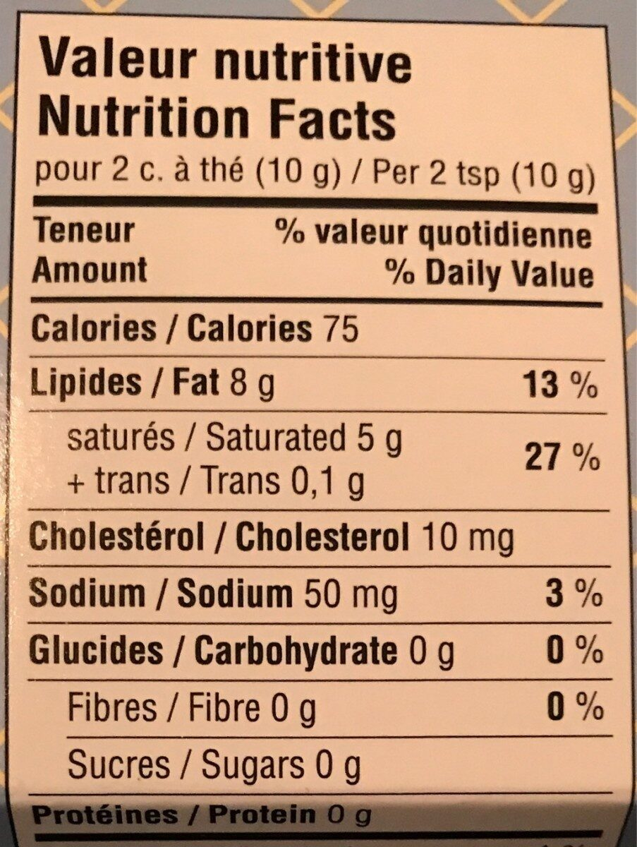 Petit Pot de beurre - Voedingswaarden - fr