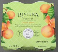 Yogurt bio abricot - Product - fr