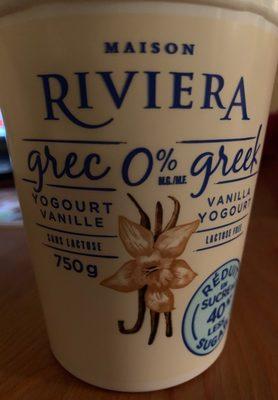 Yogourt Crec 0% Vainille Sans Lactose - Produit - fr