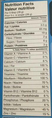 Céréales bébé - Nutrition facts - en