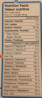 Nestlé Gerber Céréales Pour Bébés Céréales Mixtes - Nutrition facts - fr