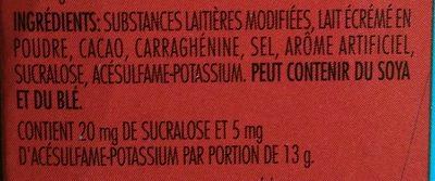 Carnation Chocolat Chaud - Ingrédients - fr