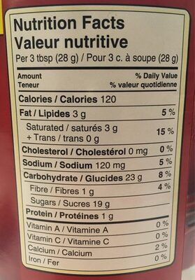 Chocolat chaud - Nutrition facts - fr