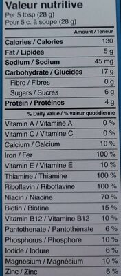 Céréale pour bébé - Valori nutrizionali - fr