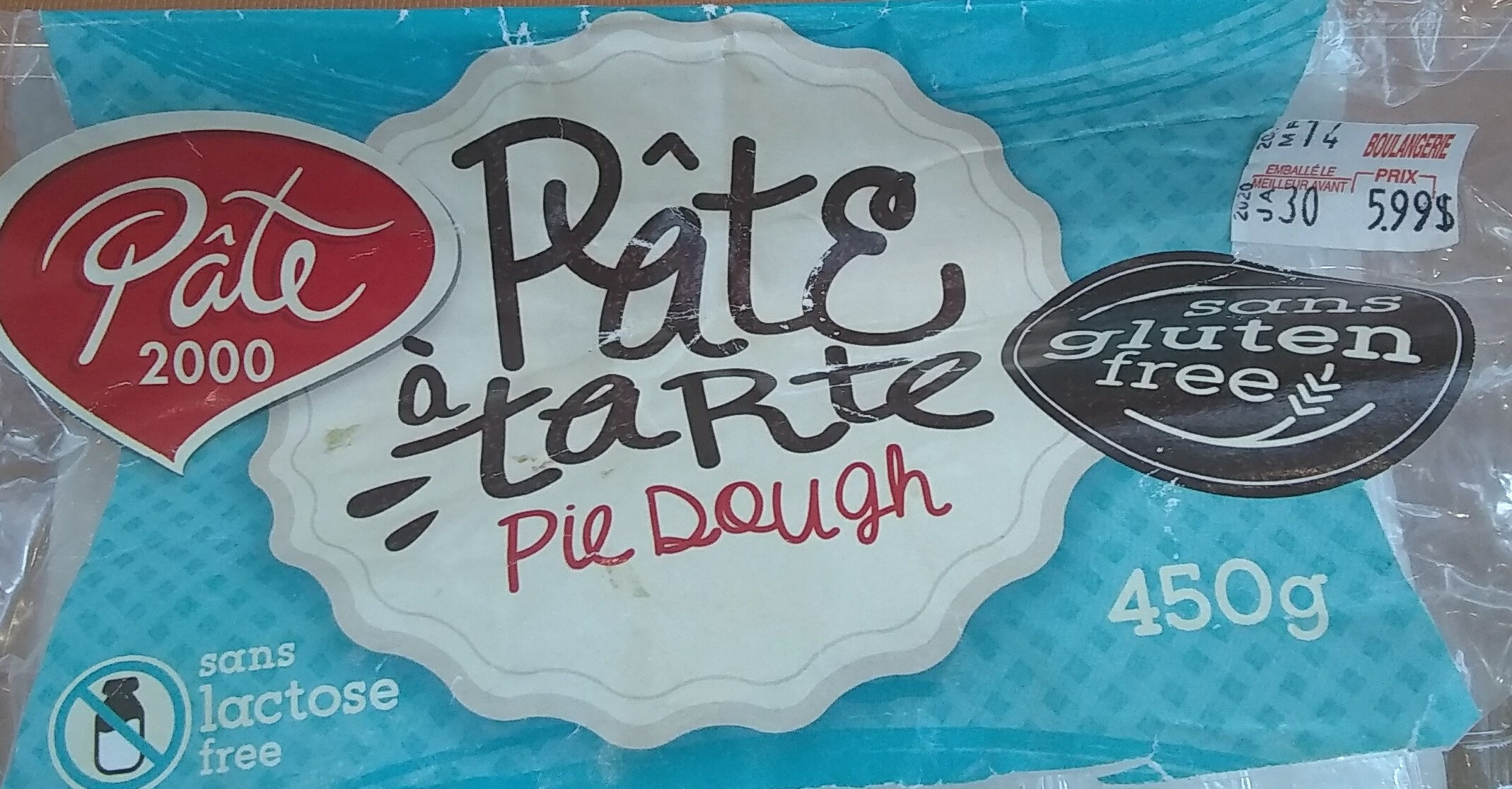 Pâte a tarte - Product - fr