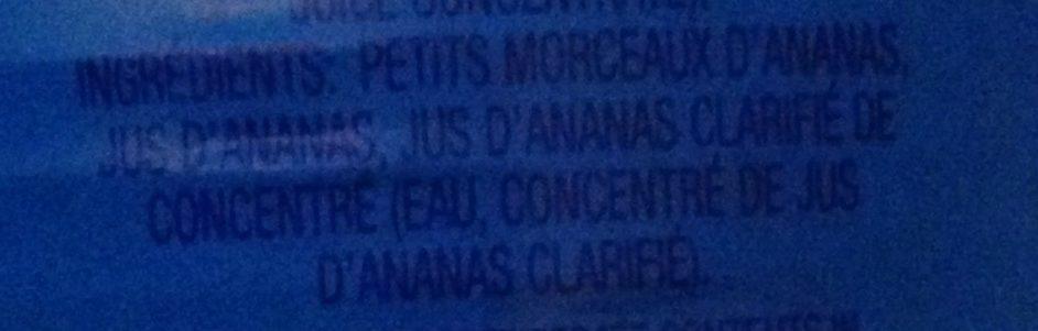 Petits Morceaux d'Ananas - Ingrédients - fr