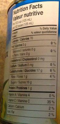 Petits Morceaux d'Ananas - Informations nutritionnelles - fr