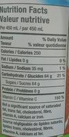 Cocktail De Fruits (fraise Et Kiwi) - Voedingswaarden