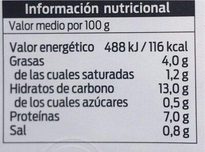 Habitas Rehogadas Con Butifarra Negra y Jamón - Valori nutrizionali - es
