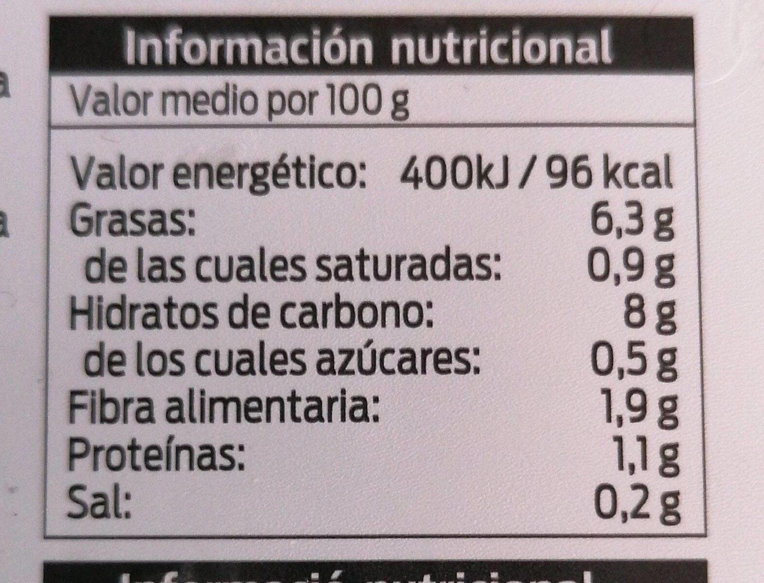 Judías verdes con patatas y zanahoria marca - Valori nutrizionali - es
