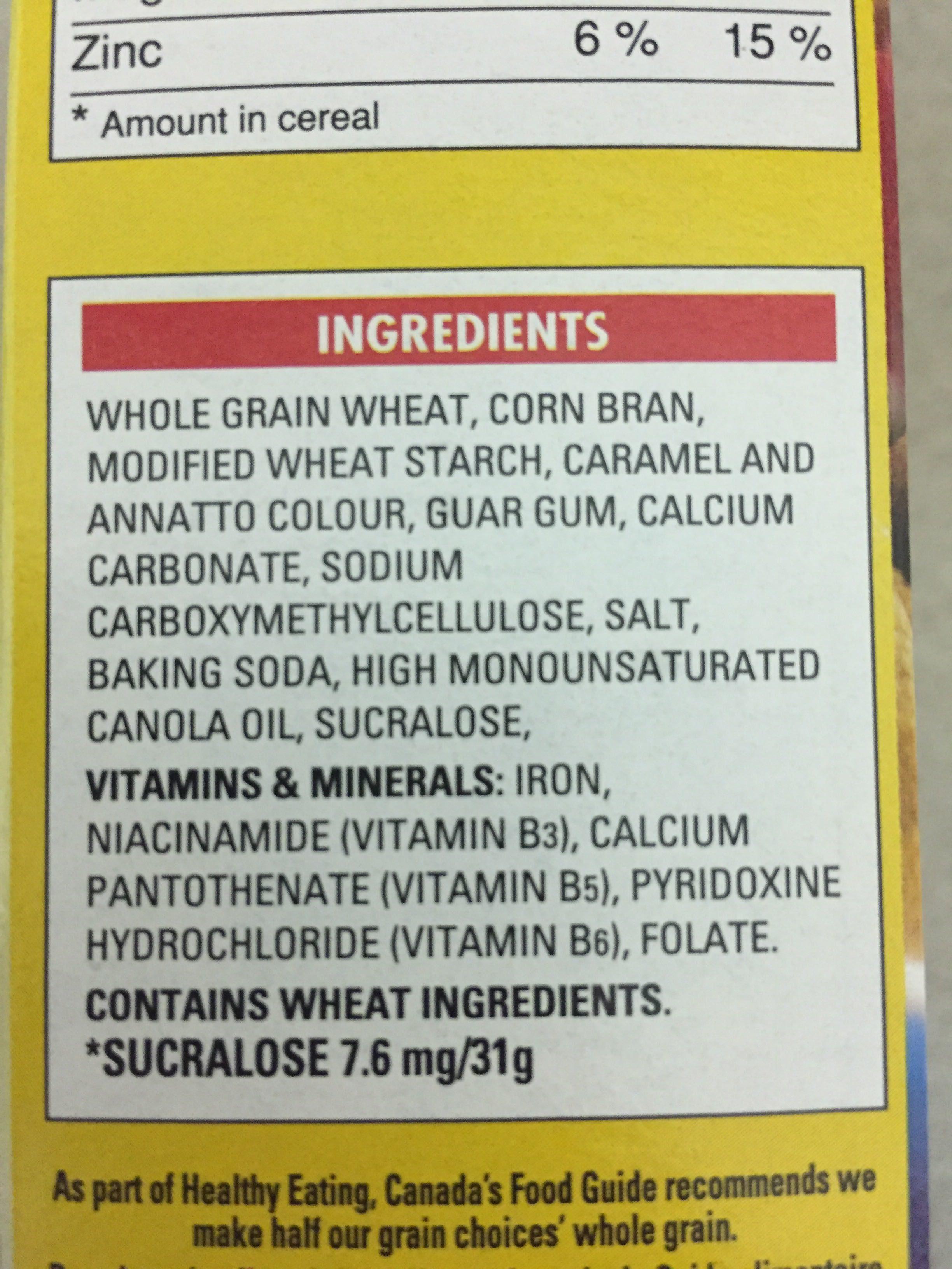 Fibre 1 Crunchy Original - Ingredients - en
