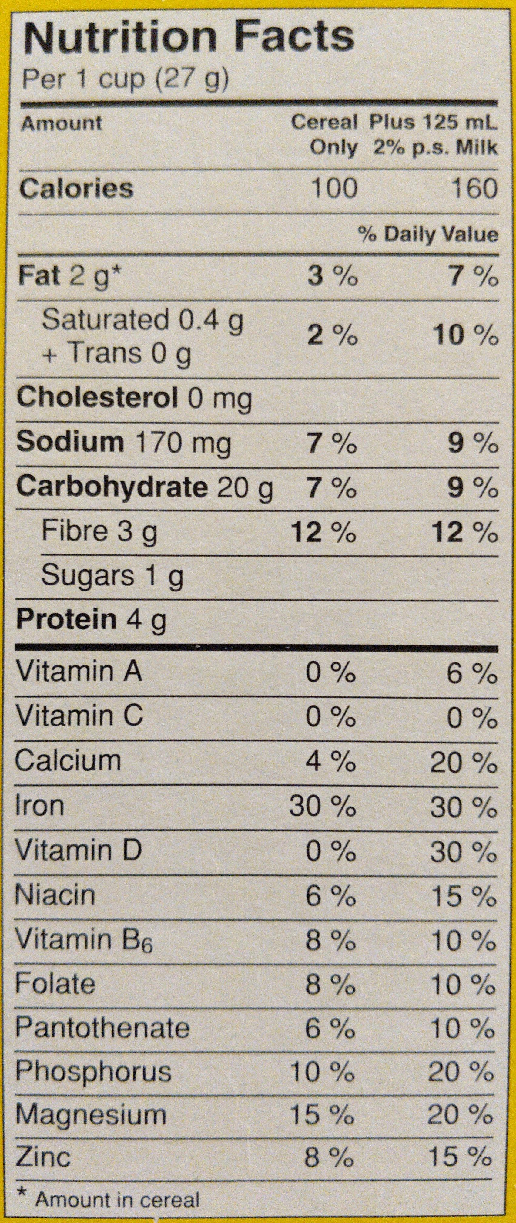 Cheerios - Informations nutritionnelles - en