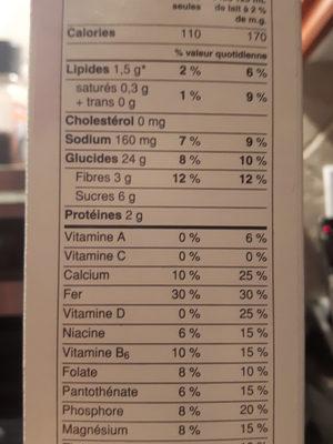 Cheerios multi grain - Voedingswaarden