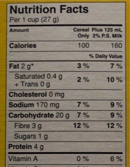 Cheerios - Informations nutritionnelles - fr