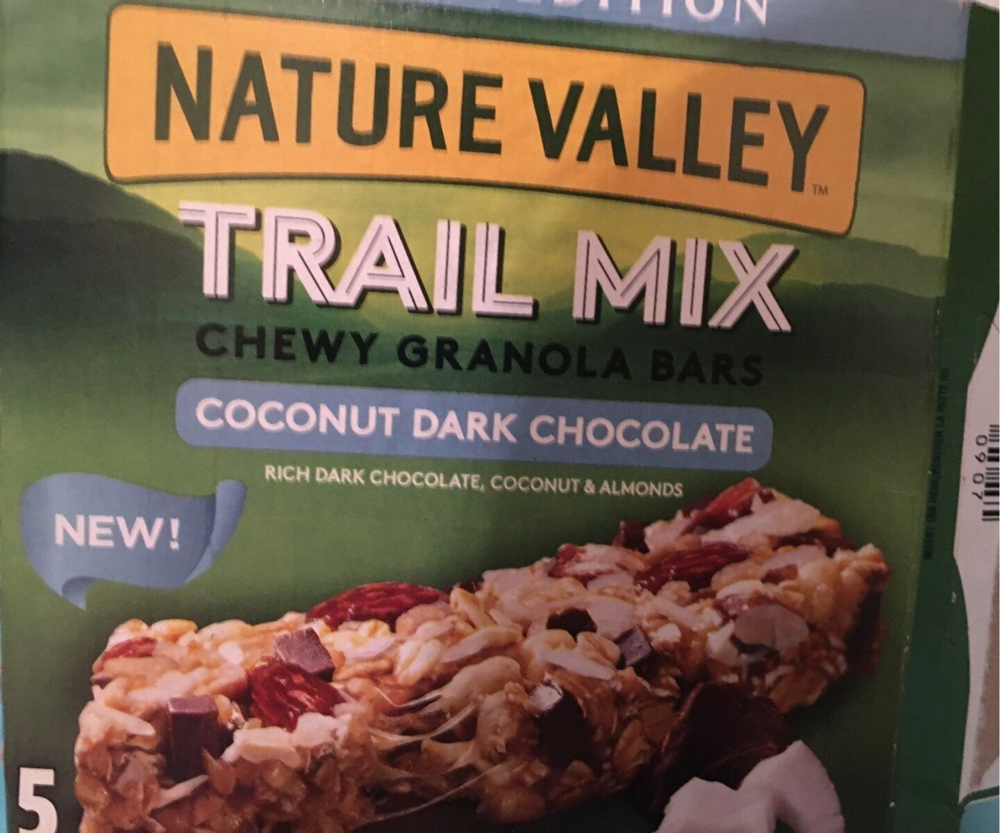 Trail Mix Chewy Granola Bars Coccanut Dark Chocolate - Produit - fr
