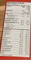 Trix cereal - Informations nutritionnelles - en