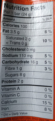Reese Puffs (cereal bars) - Informations nutritionnelles