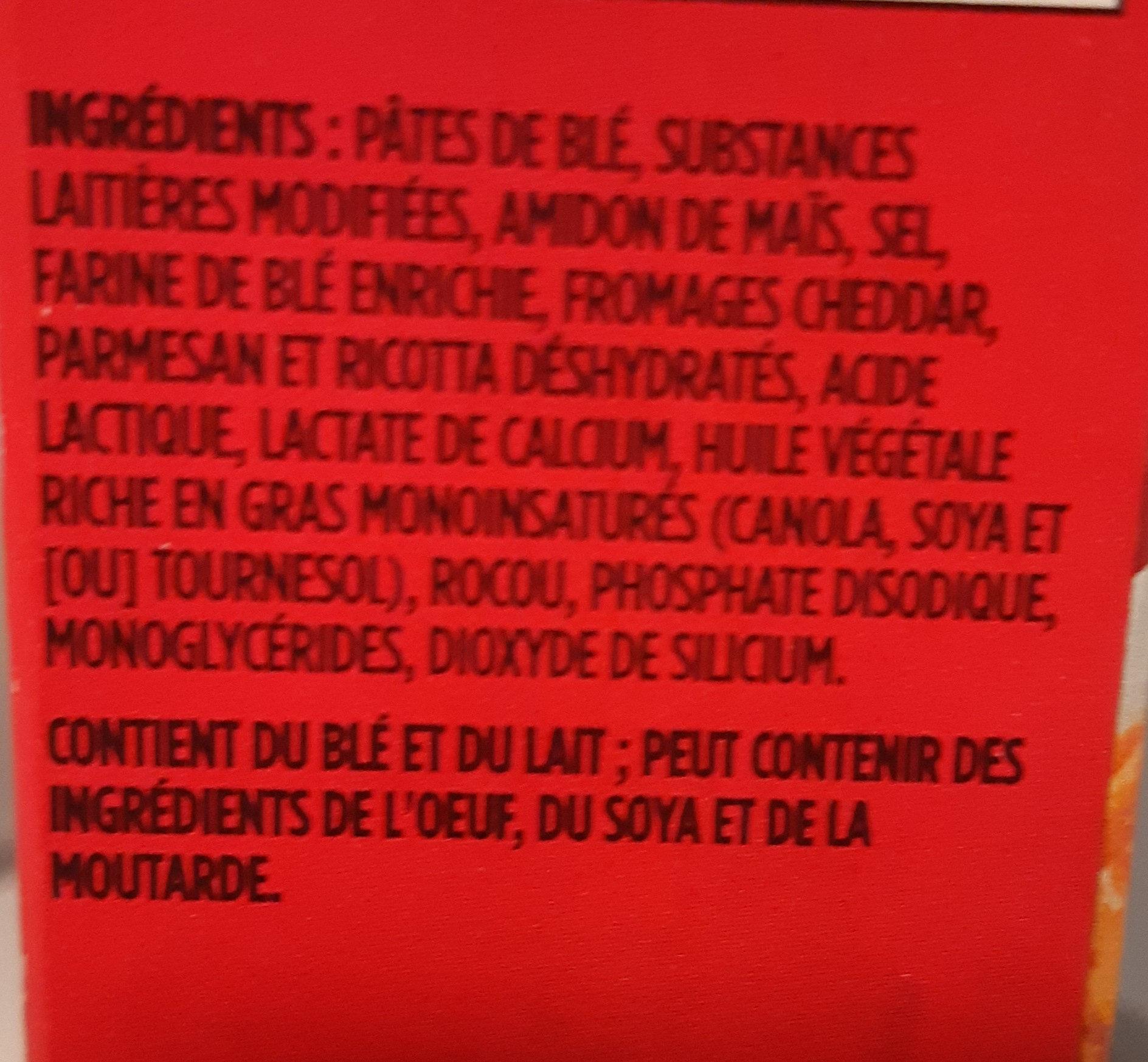 Hamburger helper, 3 cheese manicotti - Ingrédients - fr