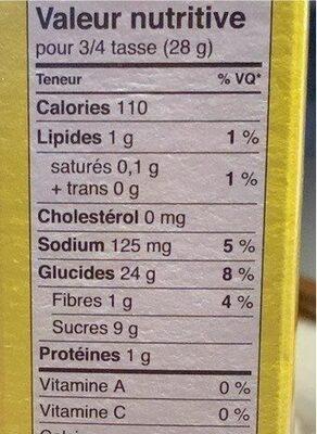 Lucky Charms Trèfles au miel - Informations nutritionnelles - en
