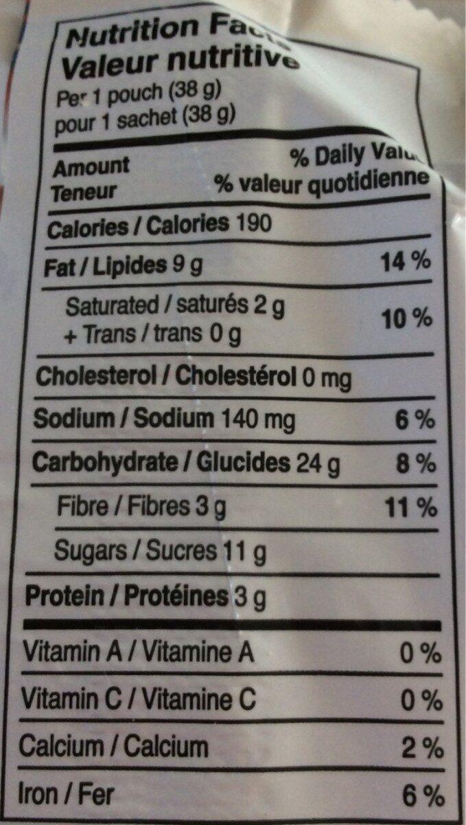 Biscuit beurre d'amande - Informations nutritionnelles - fr