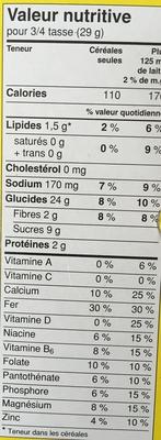 Nesquik - Voedingswaarden - fr
