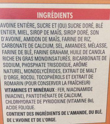 Cheerios au mielet aux noix melange croquant - Ingrediënten