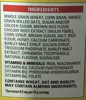 Fibre 1 Grappes au miel - Ingredients - en