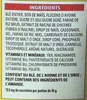 Fibre 1 Grappes au miel - Ingrédients - fr