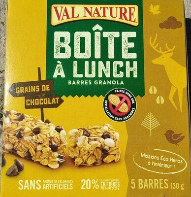 Barres Granola Boîte à Lunch Aux Pépites De Chocolat - Produit - fr