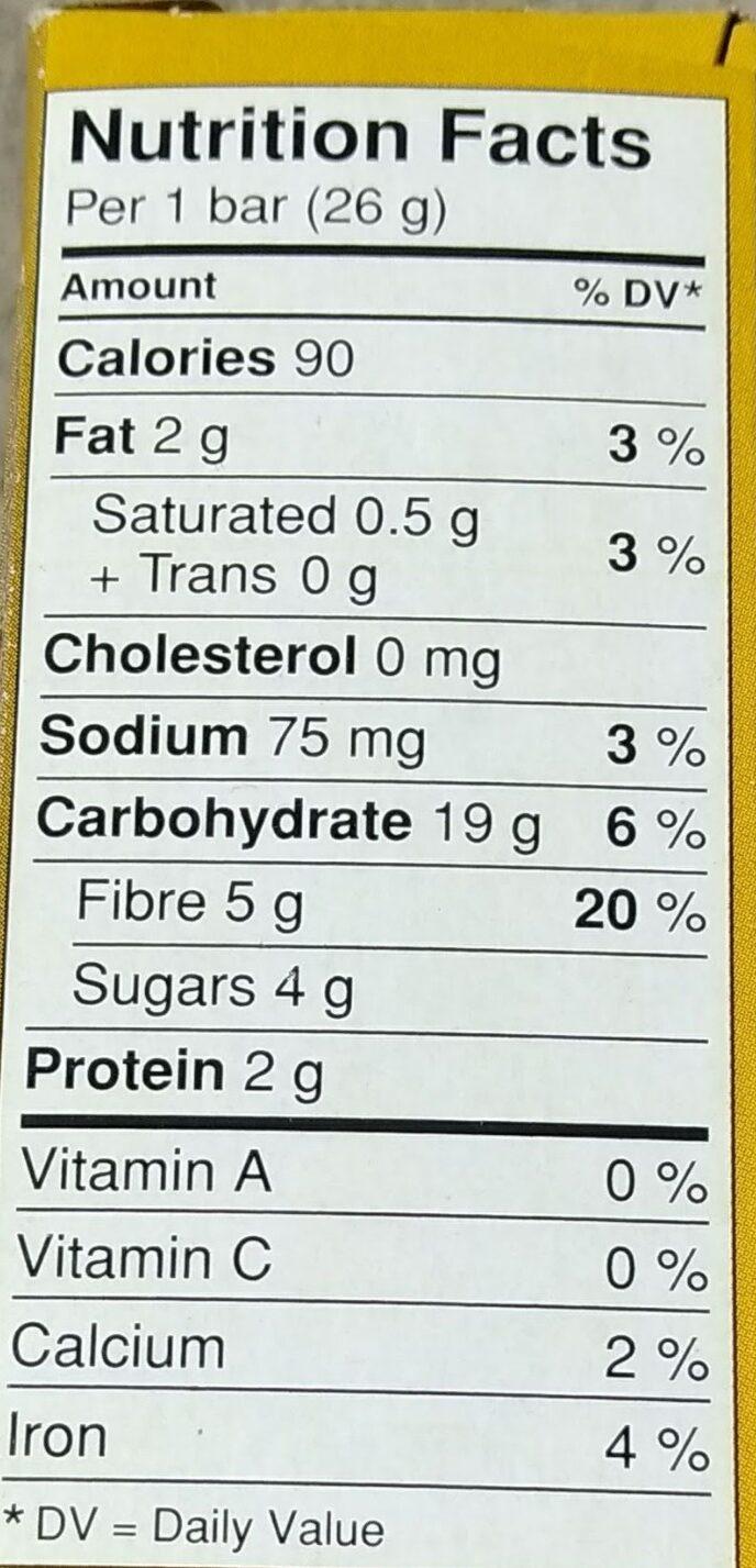 Barres Granola Boîte à Lunch Aux Pépites De Chocolat - Nutrition facts - en