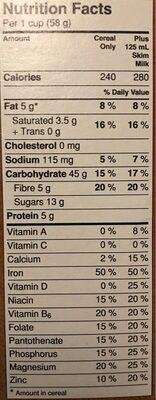 Avoine Croquante Noix de coco - Voedingswaarden