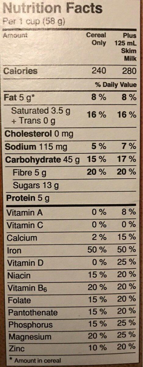 Avoine Croquante Noix de coco - Voedingswaarden - fr