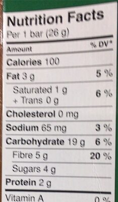 Lunch Box Granola Bars - Double Chocolate - Nutrition facts - en