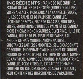 Fibre 1 delice - Ingrédients - fr