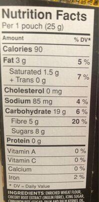 Fibre 1 delice - Nutrition facts - en