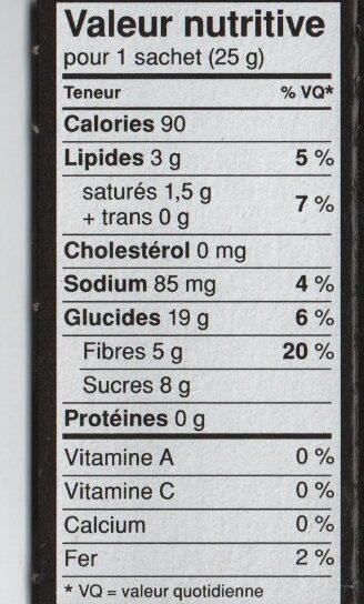 Fibre 1 delice - Informations nutritionnelles - fr