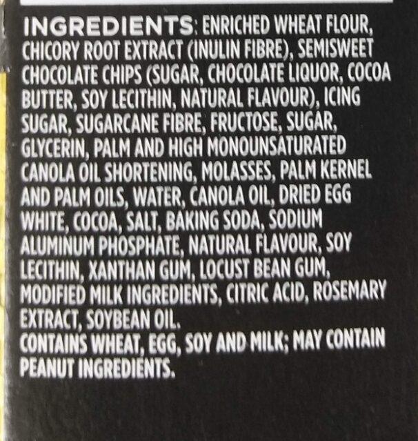 Delights: Chicolate Chip Cookie - Ingredients - en