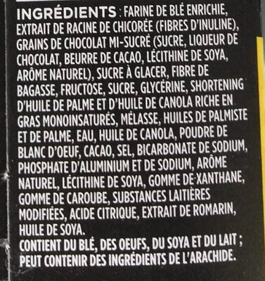 Delights: Chicolate Chip Cookie - Ingrédients - fr