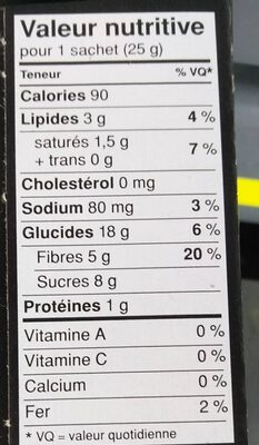 Delights: Chicolate Chip Cookie - Informations nutritionnelles - fr