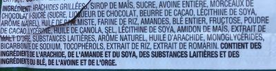 Sweet And Salty Nut Bars - Dark Chocolate - Ingredients - en