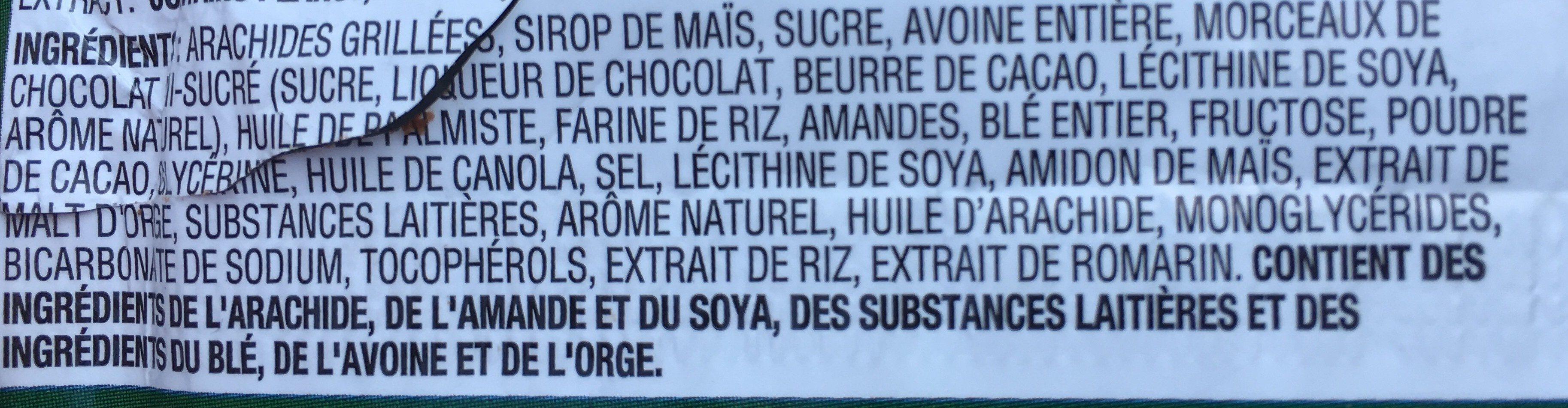 Sweet And Salty Nut Bars - Dark Chocolate - Ingrédients - fr
