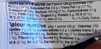 Granola Cups - Informations nutritionnelles - fr